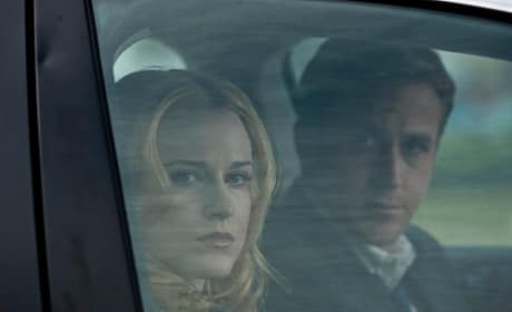 Evan Rachel Wood and Ryan Gosling in The Ides of March