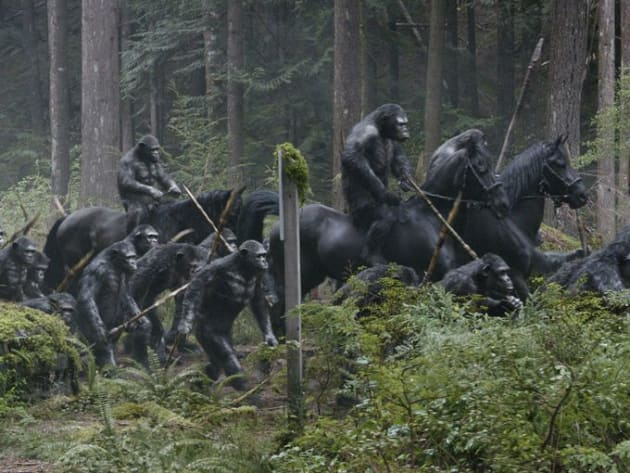 Dawn of the Planet of the Apes: Apes on Horses