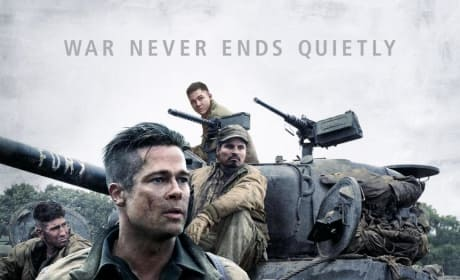 Fury Poster: Brad Pitt is Battle Worn