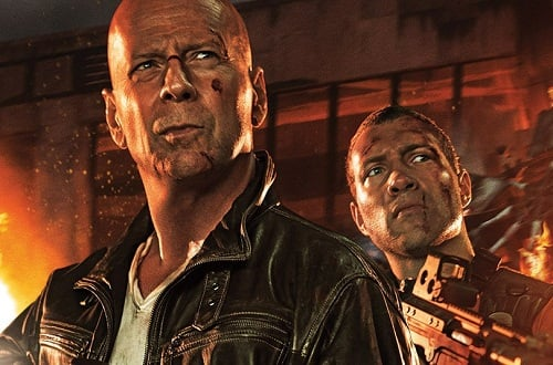 Jai Courtney Bruce Willis A Good Day to Die Hard