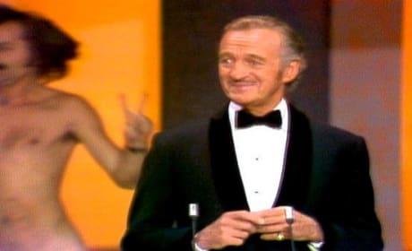 David Niven Streaker Oscars