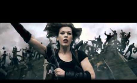 Resident Evil: Afterlife Clip - Rooftop Jump
