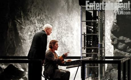 Alfred Pennyworth and Bruce Wayne The Dark Knight Rises