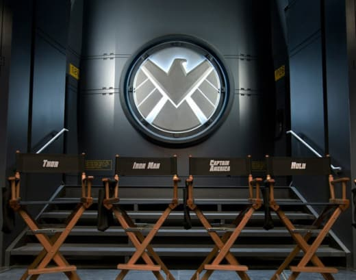 First Photo from The Avengers Set