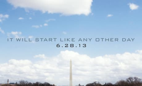 White House Down Poster: It Will Start Like Any Other Day