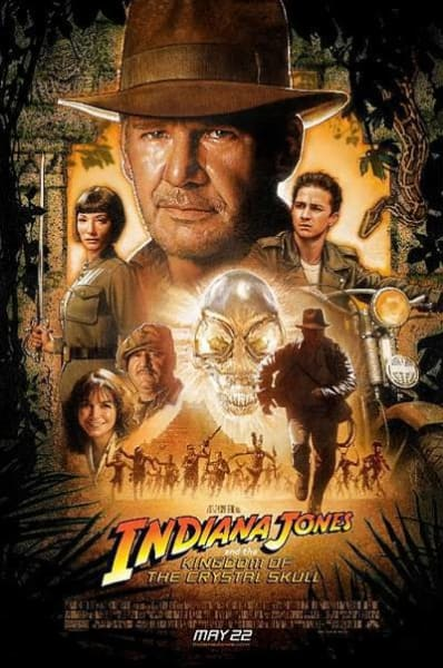 Indiana Jones and the Kingdom of the Crystal Skull Film Poster
