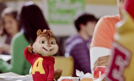 Alvin Shows Off at Lunch