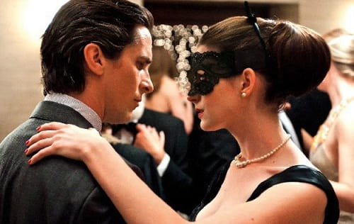 Anne Hathaway and Christian Bale in The Dark Knight Rises