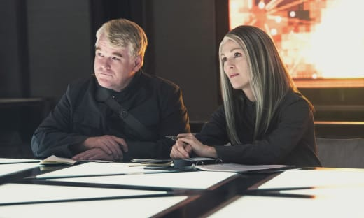Mockingjay Philip Seymour Hoffman Julianne Moore