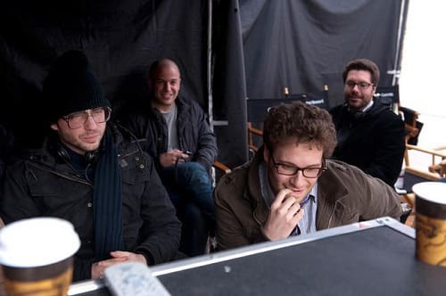 Seth Rogen on the set of 50/50
