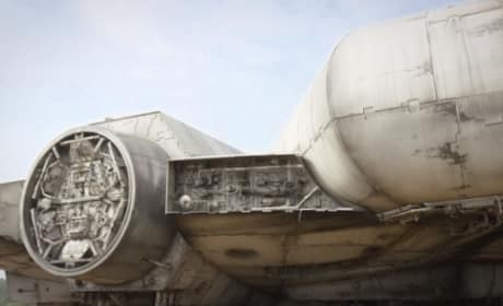 Star Wars Episode VII Millennium Falcon Close Up