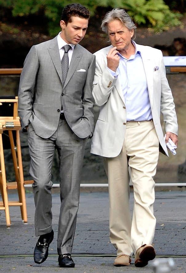 Shia and Michael in Wall Street 2