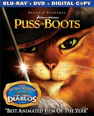 Puss in Boots Blu-Ray Cover