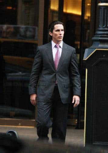 Christian Bale on The Dark Knight Rises Set