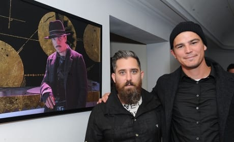 Josh Hartnett and Jeremy Kenyon Lockyer Corbell at the Bunraku Art Event