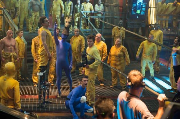 Guardians of the Galaxy Jail Scene Set Photo