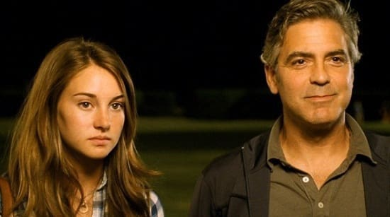 Shailene Woodley and George Clooney in The Descendants