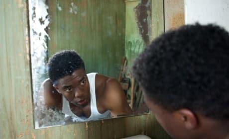 Chadwick Boseman is Jackie Robinson in 42