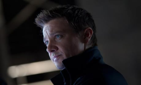 Jeremy Renner is Hawkeye in The Avengers
