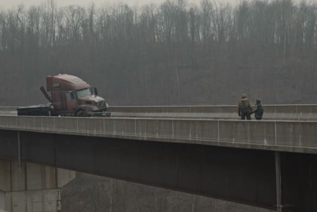 Truck on the Overpass