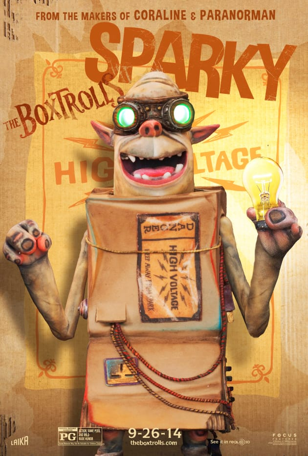 The Boxtrolls Sparky Character Poster