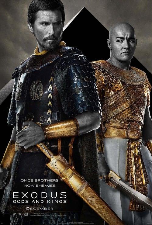 Exodus: Gods and Kings Christian Bale Joel Edgerton Poster