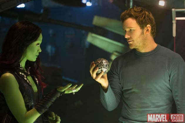 Guardians of the Galaxy Chris Pratt Zoe Saldana