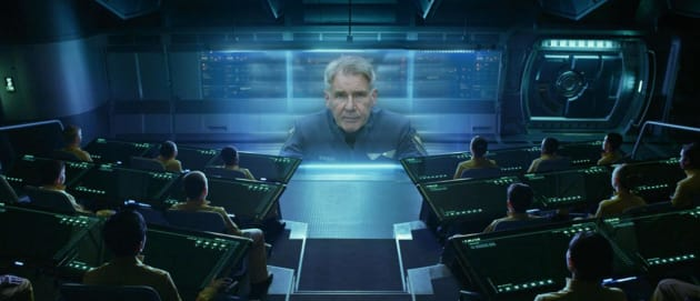 Ender's Game Stars Harrison Ford as Colonel Gruff