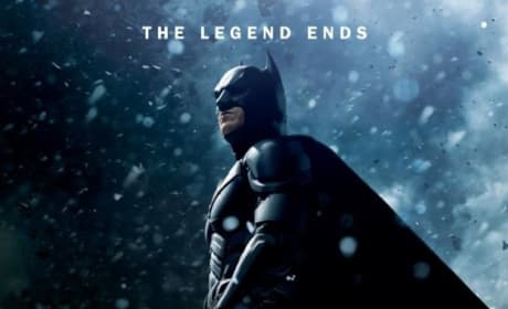 The Dark Knight Rises Snow Character Poster: Batman