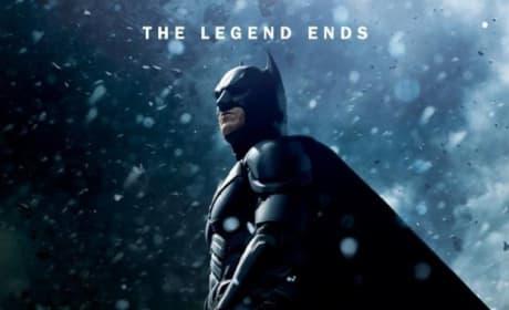 The Dark Knight Rises Snow Character Poster: Batman