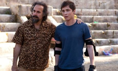 Percy Jackson Sea of Monsters Stanley Tucci Logan Lerman