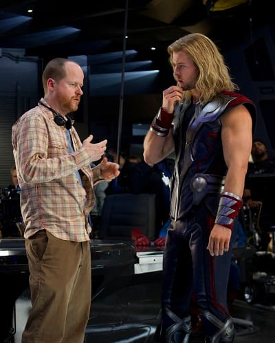 Chris Hemsworth and Joss Whedon Film The Avengers