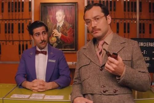 The Grand Budapest Hotel Jason Schwartzman Jude Law