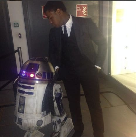John Boyega Star Wars Episode VII Wrap Party