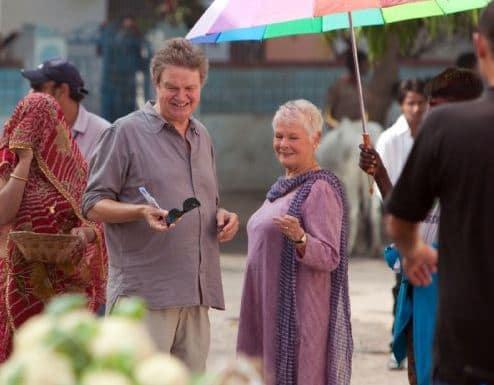 John Madden Directs Judi Dench on The Best Exotic Marigold Hotel Set