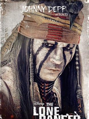 The Lone Ranger Johnny Depp Poster