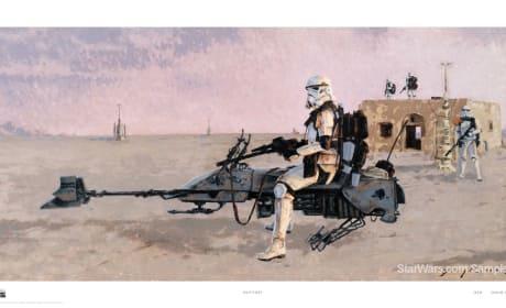 Star Wars Painting Storm Trooper Landspeeder