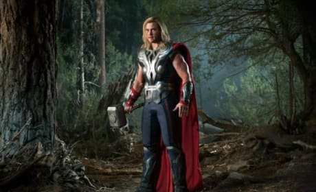 The Avengers: Chris Hemsworth is Thor