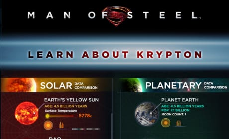 Man of Steel: Krypton Infographic Explores Superman's Home