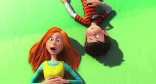 Zac Efron and Taylor Swift in The Lorax
