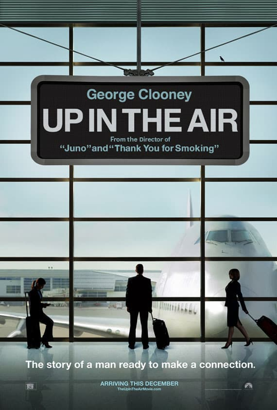 Up in the Air Silhouette Poster