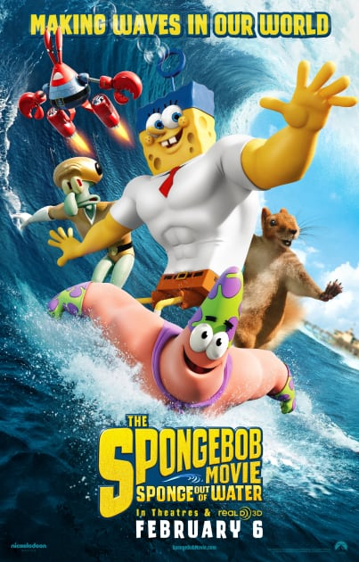 SpongeBob Poster Has Him Making Waves