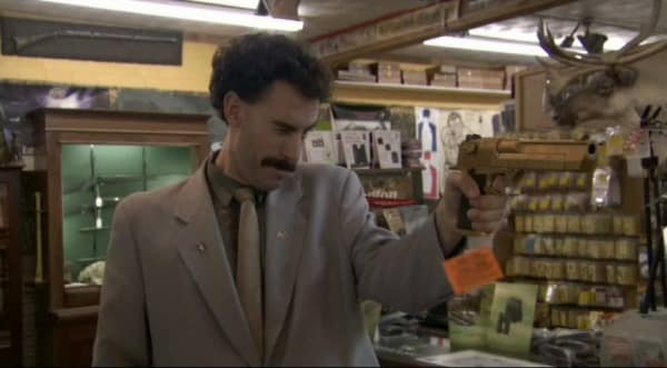 Borat With Gun
