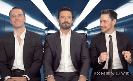 Hugh Jackman James McAvoy Michael Fassbender X-Men Photo