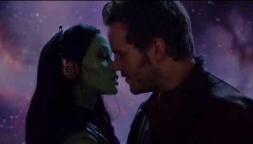 Guardians of the Galaxy Zoe Saldana Chris Pratt
