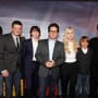 J.J. Abrams and the Cast of Super 8