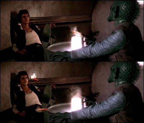 Han Solo and Greedo: Who Shot First?