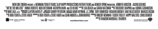 We're the Millers Credits