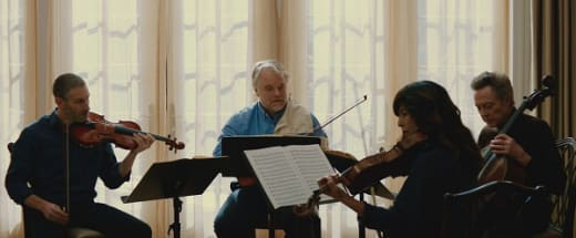 Philip Seymour Hoffman, Catherine Keener and Christopher Walken in A Late Quartet