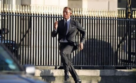 Daniel Craig on the Skyfall Set
